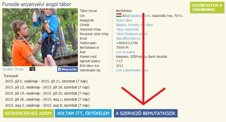 Tábor szervező bemutatkozik - gyerektabor-kereso.hu